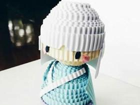 怎么用瓦楞纸做衍纸娃娃人偶的制作步骤