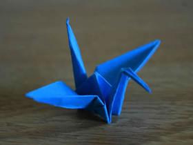 简单手工纸鹤怎么折的过程步骤图解
