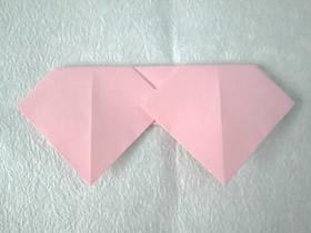 最简单心连心情书怎么折的图解教程