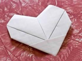 怎么折简单又漂亮的纸心的折法步骤图