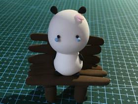 怎么简单做可爱超轻粘土小熊猫的图解教程