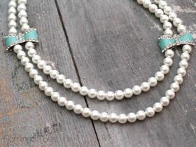 怎么做超可爱串珠珍珠项链的DIY制作方法图解