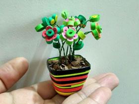怎么做迷你衍纸盆栽的手工制作图解教程