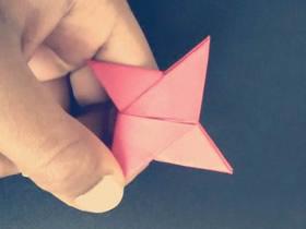 怎么折纸四角忍者之星飞镖的折法步骤图
