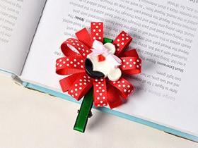 怎么做甜美缎带花发卡的制作方法图解教程