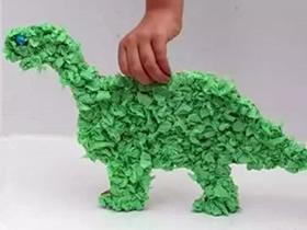 幼儿怎么做纸板恐龙的手工制作教程