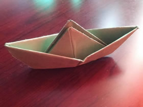 简单小船怎么折的图解教程