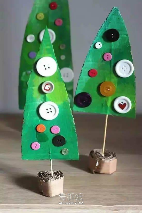 用圆形拼成的动物_怎么用硬纸板做做最简单圣诞树的制作方法_爱折纸网