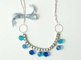 怎么做串珠钻石项链的DIY制作方法图解