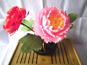 怎么做逼真手揉纸牡丹花的制作方法步骤图解