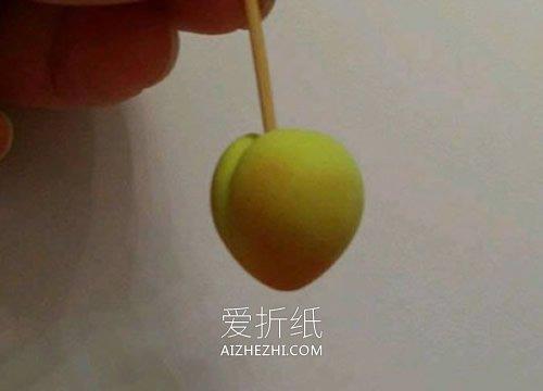怎么做超轻粘土小桃子的制作方法图解- www.aizhezhi.com