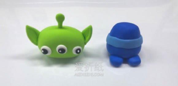 怎么做超轻粘土三眼外星人的手工制作步骤图- www.aizhezhi.com