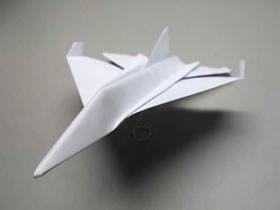 逼真F-16纸飞机的折法详细过程图解