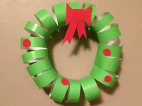 幼儿园怎么做彩纸圣诞花环的制作方法教程