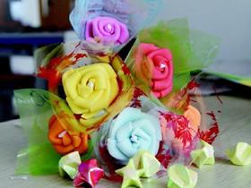 怎么折彩塑棉玫瑰花的折纸方法步骤图解