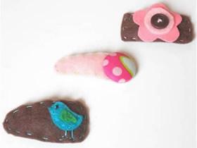 怎么做可爱布艺儿童发夹的制作方法简单