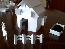 怎么用索引卡制作桌面上的小屋的方法图解