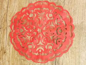 怎么剪纸精美六折团花窗花的折法和剪法