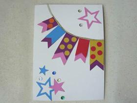 怎么做新年生日星星旗帜贺卡的制作方法