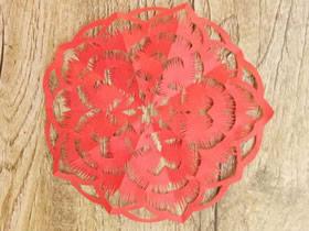 怎么五折剪纸红色团花窗花的折法和剪法步骤