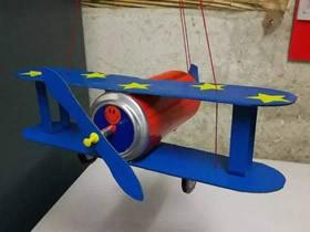 怎么废物利用做双翼飞机模型的制作方法