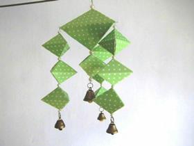 怎么折纸端午节粽子风铃的折法图解教程
