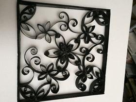 怎么做卷纸芯窗花装饰画的手工制作方法教程