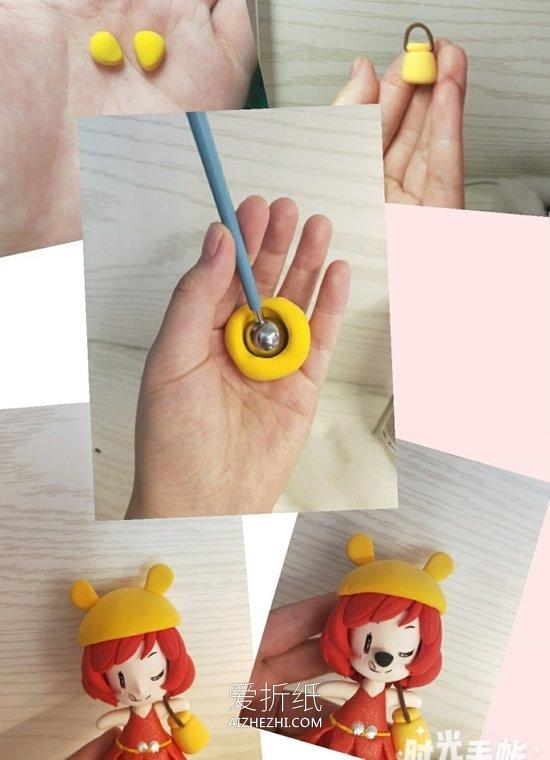 怎么做超轻粘土穿裙子女生人偶的制作步骤图- www.aizhezhi.com