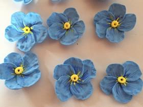 怎么做五瓣粘土花的手工制作步骤图解