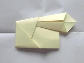 怎么简单折纸鸡毛信的折法步骤图解