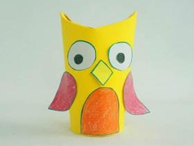 怎么做立体卡纸猫头鹰的手工制作教程