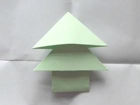 怎么折纸松树信纸的简单折法过程图解