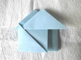 怎么简单折纸小房子信纸的折法图解教程