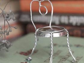 怎么用易拉罐和铁丝制作迷你椅子模型的方法