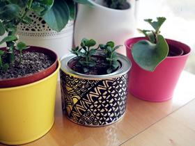 怎么用手绘铁罐子做复古风花盆的制作方法