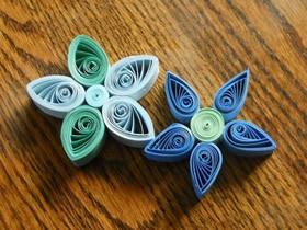 怎么做衍纸五瓣花的入门手工教程图解