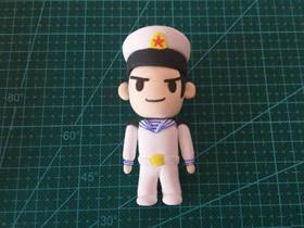 怎么做超轻粘土海军士兵人偶的制作方法图解