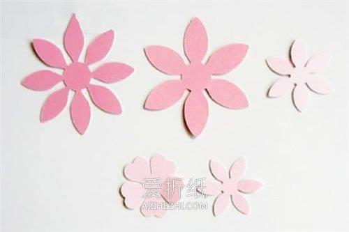 怎么做母亲节立体樱花贺卡的手工制作方法- www.aizhezhi.com
