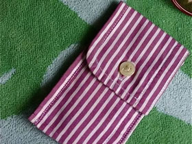 怎么用衬衫袖口做零钱包的改造制作方法教程