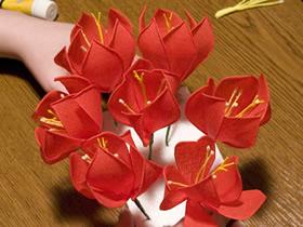 怎么做皱纹纸冠花贝母的手工制作方法