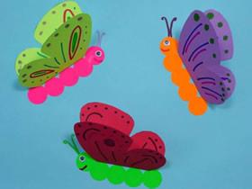 春天立体蝴蝶纸贴画怎么做的手工制作教程
