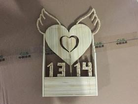 怎么用一次性筷子做天使之心音乐盒制作方法