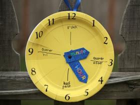 怎么做认识时间的挂钟玩具手工制作教程
