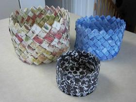 怎么用纸编织收纳筐/装饰篮的折叠方法图解