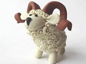 怎么做超轻粘土绵羊的手工制作图解教程