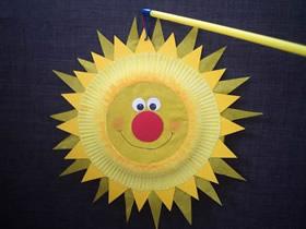 怎么做中秋节纸盘太阳灯笼的手工制作方法
