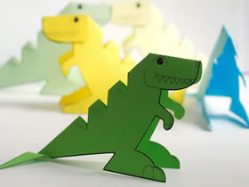 怎么用卡纸做立体恐龙的手工制作教程