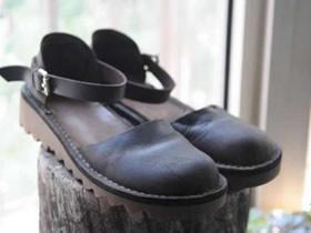 怎么用旧皮靴做文艺复古凉鞋的改造制作方法