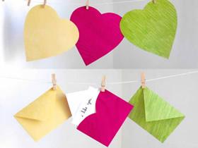怎么用心形纸折爱心信封的折叠方法图解