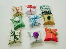 怎么用卡纸折纸四角礼品盒的折法过程图解